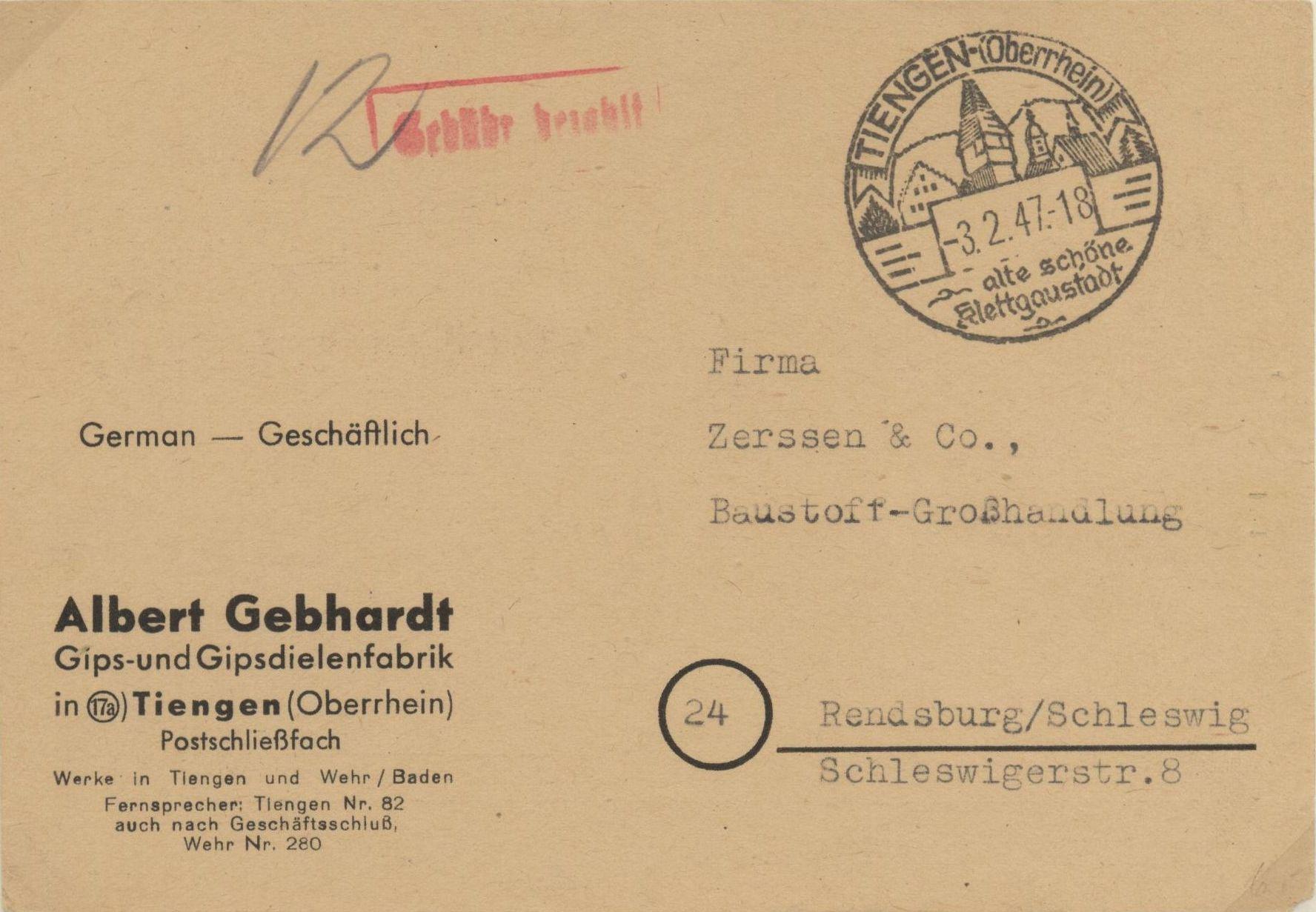 Briefe & Kartenposten 106 Belege Von Hamburg Mit Sonderstempel